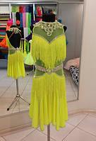 Платье для бальных танцев - латина. TR.Lime - fring