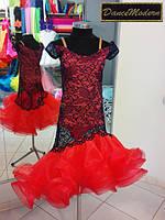 Платье для бальных танцев - латина(юниор) T.Fler - guip