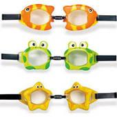 """Очки для плавания Intex, 55603 Обитатели моря """"Fun Goggles"""" (3 вида)"""
