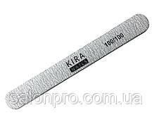 Пилка для ногтей Kira Nails 100/100, прямая