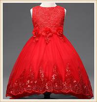 Платье нарядное с прозрачной юбкой, фото 2