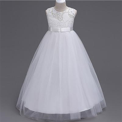 Платье нарядное с гипюровым верхом