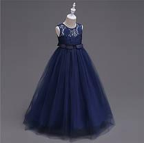 Платье нарядное с гипюровым верхом, фото 2