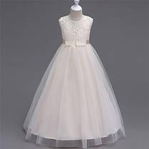 Платье нарядное с гипюровым верхом, фото 3