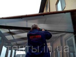 Мягкие окна ПВХ для террасы, монтаж