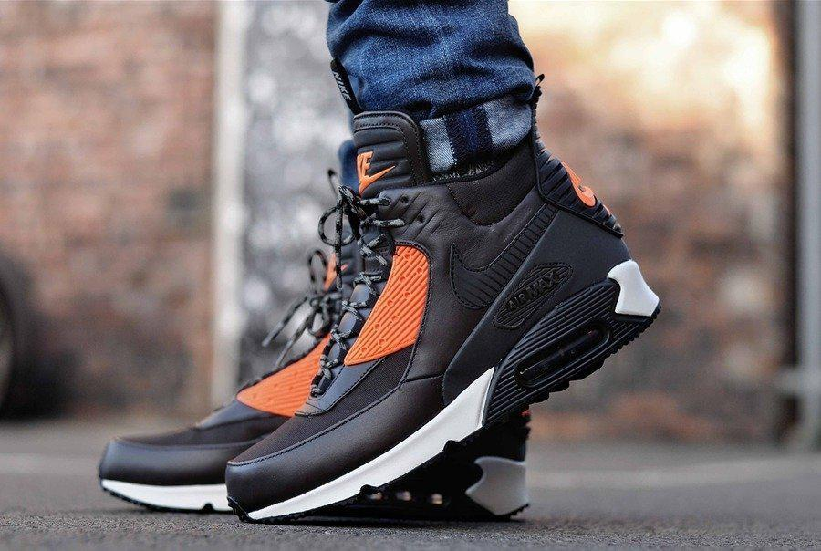 Мужские кроссовки Кроссовки Nike Air Max 90 SneakerBoot Brown/Crimson