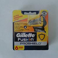 Кассеты Gillette Fusion Proshield 6 шт. ( Картриджи лезвия жиллетт Фюжин прошилд желтые Оригинал )