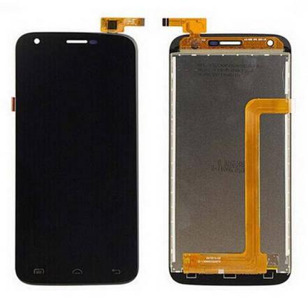 Дисплей (экран) для Doogee Y100 Pro с сенсором (тачскрином) черный, фото 2