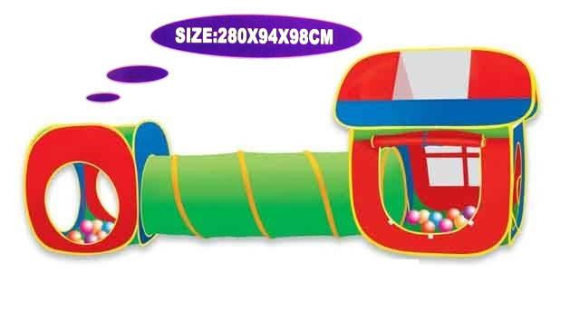 Детская палатка Домик 5538-5 с тоннелем, фото 2