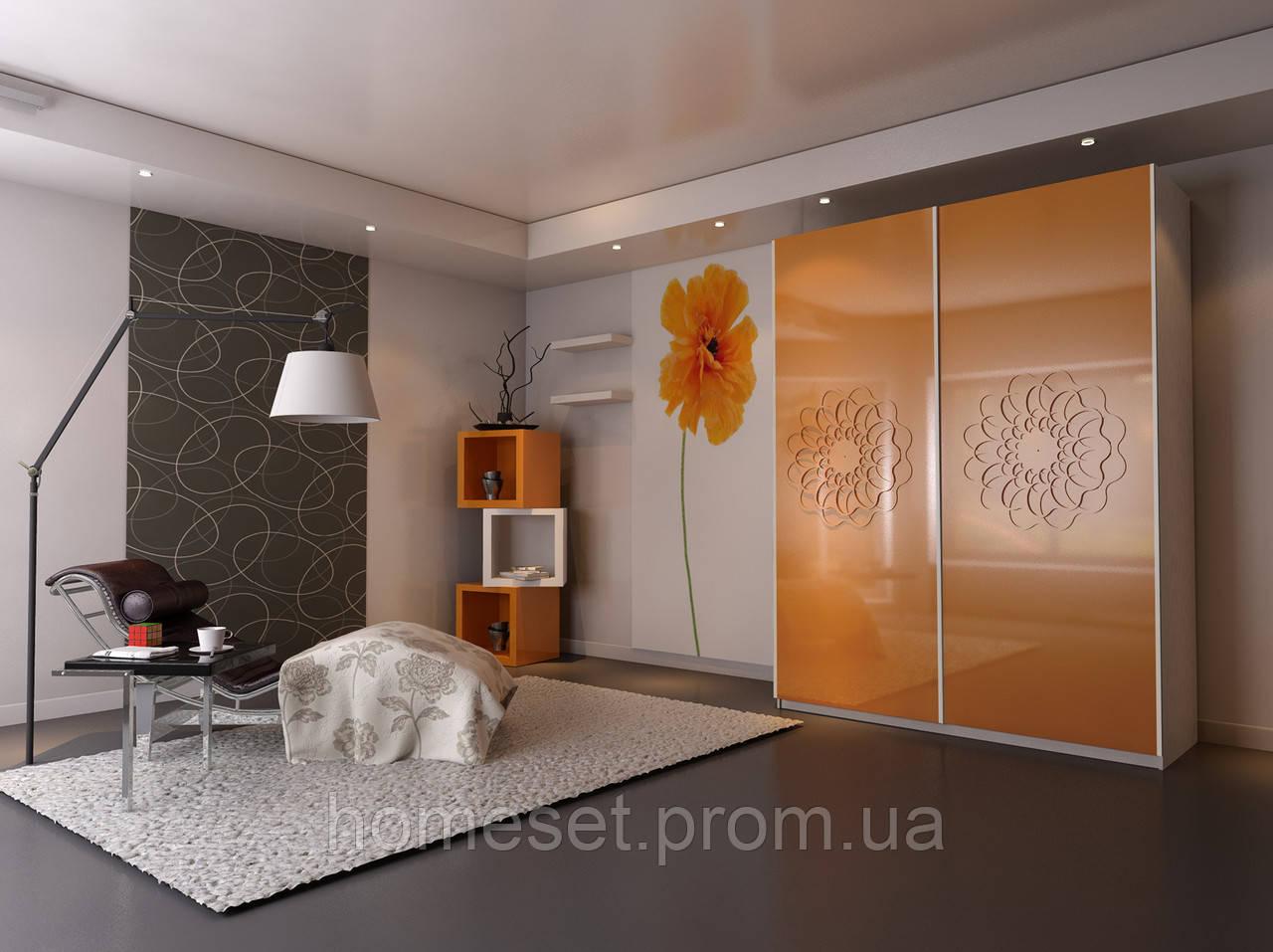 """Шкафы купе Ультра Украина лакобель с рисунком - """"ХоумСет"""" - Мебель и товары для дома и семьи в Львове"""