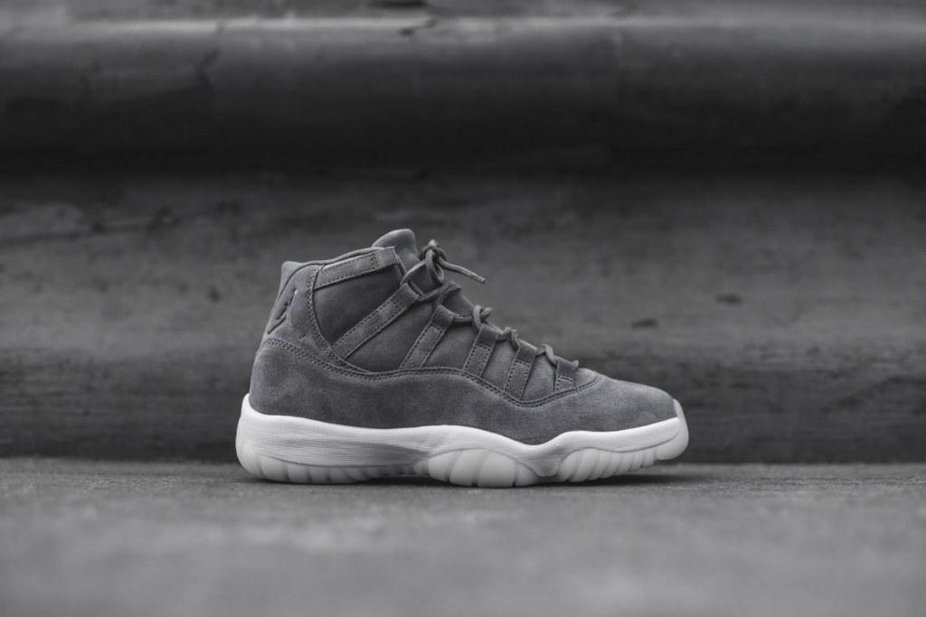 Мужские баскетбольные кроссовки Air Jordan 11 Retro Premium Grey Suede ce29c786bd8