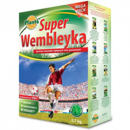 Семена травы газонной Planta Super Wembley Спорт 0,9кг, фото 2