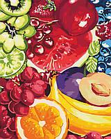 """Раскраска для взрослых и детей """"Аппетитные фрукты"""" 40 х 50см , С Коробкой"""