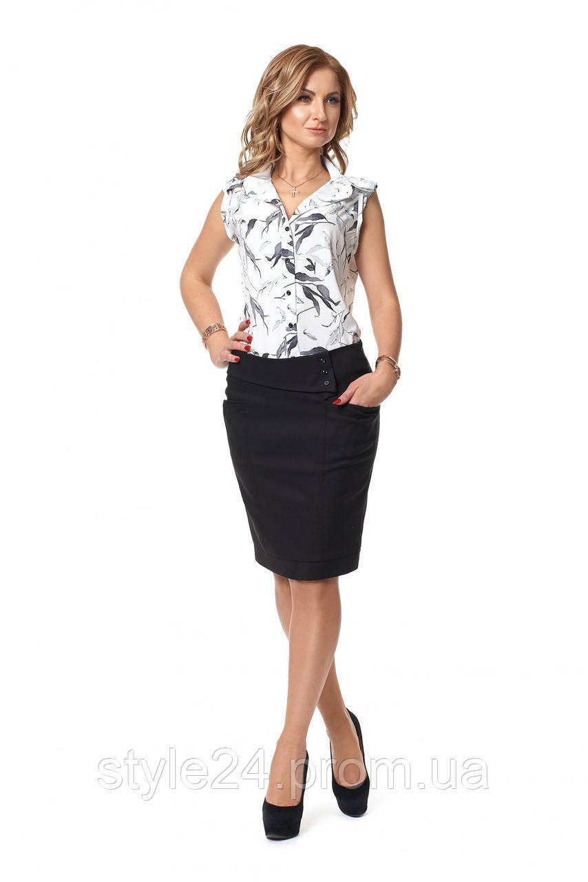 ЖІночий костюм блуза з квітами та спідниця.Р-ри 42-48  продажа 8c109fe63c244