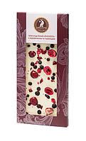 Шоколад Shoude 100г білий з журавлиною та чорницею