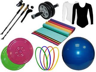 Товары для фитнеса, гимнастики, аэробики и йоги.