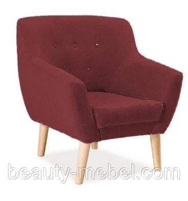 Дизайнерское мягкое кресло Signal Nordic 1, коричневое