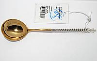 Серебряная ложка кофейная с позолотой 7517-ЧЗ, фото 1