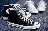 """Кеды Converse Chuck Taylor All Star II High """"Black/White/Navy"""". Кеды Converse в черном цвете. Высокие кеды., фото 6"""