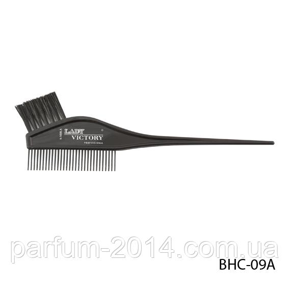 Щітка-гребінець для фарбування волосся BHC-09A, розмір: 21х4 см