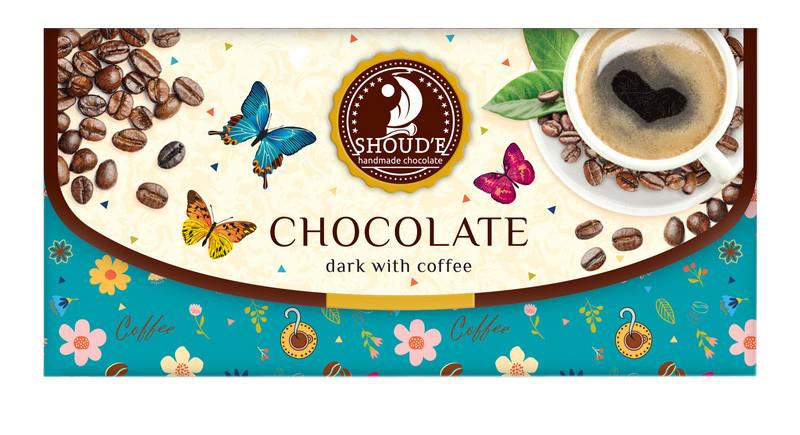Шоколад Shoude 70г Клатч чорний з кавою
