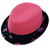 Шляпа детская челентанка комби фламинго розовый