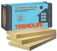 Утеплитель ТЕРМОЛАЙФ  Приват Фасад 100 мм (1,20 м кв.) (1,0 х 0,6 м х 2 шт.) 115 плотность