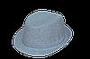 Шляпа детская челентанка х/б однотон серый
