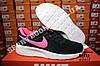 Кроссовки Nike Tanjun Black Pink Черные женские, фото 2
