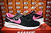 Кроссовки Nike Tanjun Black Pink Черные женские, фото 3