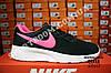 Кроссовки Nike Tanjun Black Pink Черные женские, фото 4