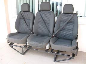 Сиденья автомобильные тройка с ремнями безопасности на каркасе