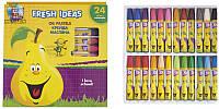 """Мелки-пастель масляные """"Fresh Ideas"""", 24 цвета"""