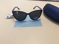 NEW! Солнцезащитные женские очки комбинированные черные с синим 1795, фото 1