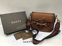 Шикарная кожаная сумочка Gucci в шикарном цвете арт 2002
