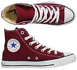 "Кеди Converse All Star Chuck Taylor High ""Bordo"". Кеди Converse в бордовому кольорі. Високі кеди converse., фото 2"