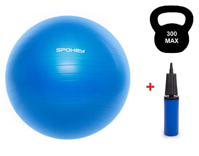 Гимнастический мяч для спорта, фитбол + насос, мяч для фитнеса Spokey Fitball lIl 55, 65, 75 см (920936)