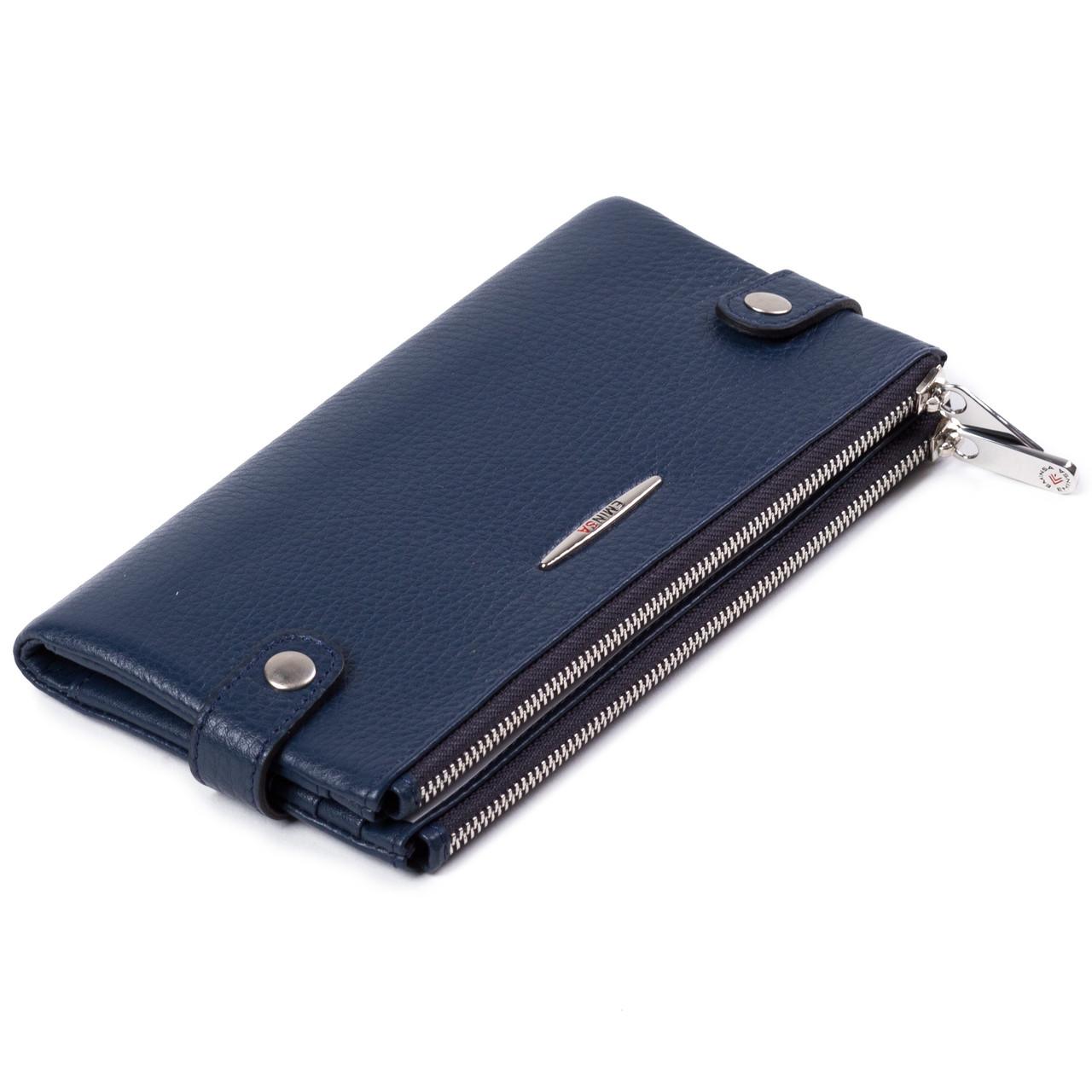 Женский кошелек кожаный синий Eminsa 2117-18-19