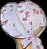 Детская шляпка Лиза кружева красная ветка