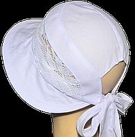 Детская шляпка Лиза кружева белая