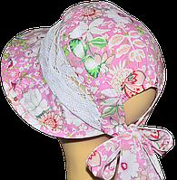 Детская шляпка Лиза кружева симфония розовая