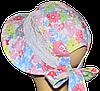 Детская шляпка Лиза кружева симфония коралл