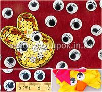 (10грамм, d=12мм) Глазки с ресничками подвижные для игрушек (≈125 глазок)