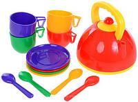 Набір посуду з чайником (13 предметів) 0279 Юніка