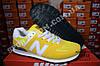 Кроссовки New Balance 574 Yellow Желтый женские реплика, фото 3