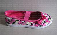 Балетки-Мокасины текстильные для девочки. Размеры с 31 по 36. Длина стельки от 19 до 22 см, фото 1