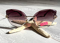 Безоправные солнечные очки с граненой линзой с UV400 защитой. НОВИНКА!