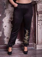 Брюки женские с вышивкой, с 48 по 82 размер, фото 1