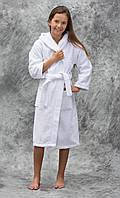 Халат махровый детский Lotus отельный с капюшоном 9-10 лет (380 гр/м2)