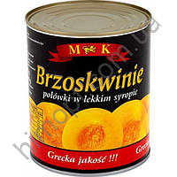 Консервированные персики в сиропе M&K, 820 мл